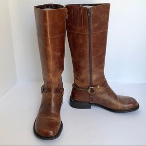NWT Matisse Brown Leather Western Boots Spur 7 1/2